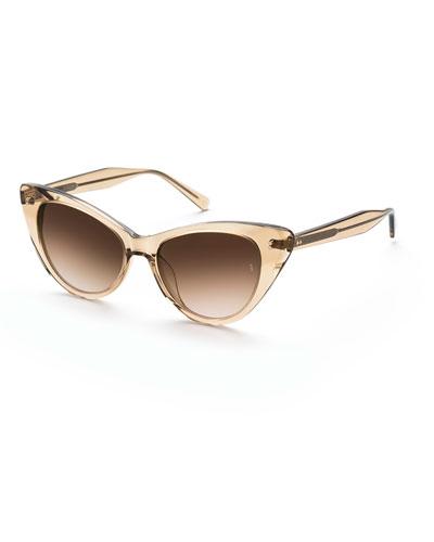 Piper Cat-Eye Acetate Sunglasses