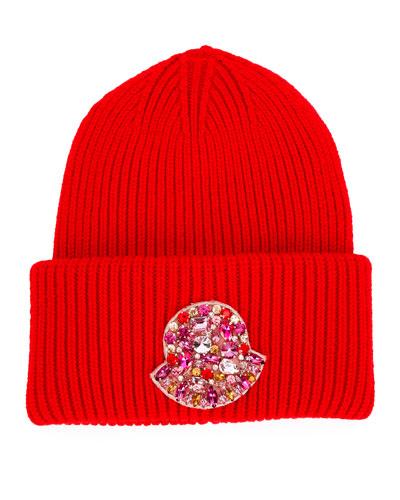 Jeweled Logo Beanie Hat
