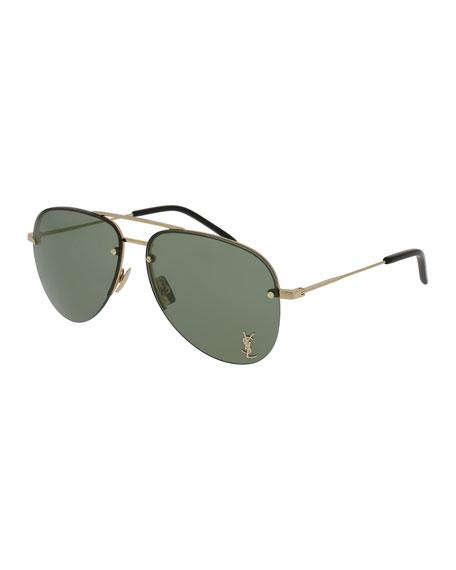 Saint Laurent Classic 11 Monochromatic Aviator Sunglasses