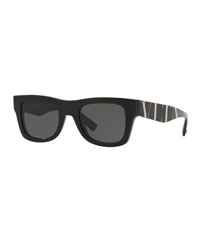 Logo-Arms Square Sunglasses