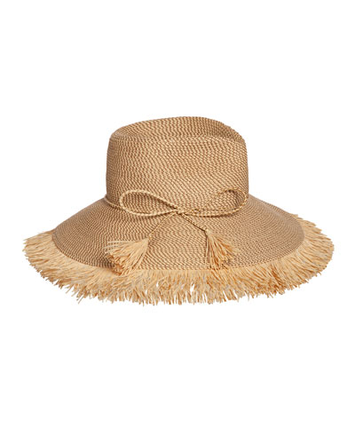 15dad614eef Quick Look. Eric Javits · Antigua Woven Raffia Fringe Sun Hat