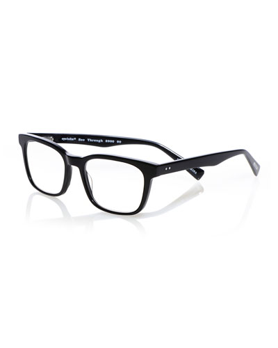 C Through Square Acetate Reading Glasses