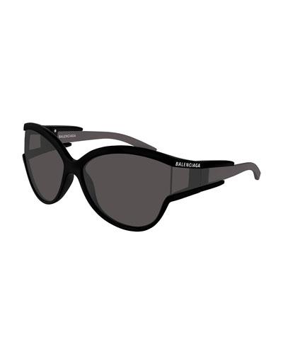 57d01d5352 Quick Look. Balenciaga · Soft Mask Monochromatic Wrap Cat-Eye Sunglasses