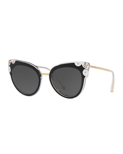 Quick Look. Dolce   Gabbana · Cat-Eye Acetate   Metal Sunglasses 87cde417bf