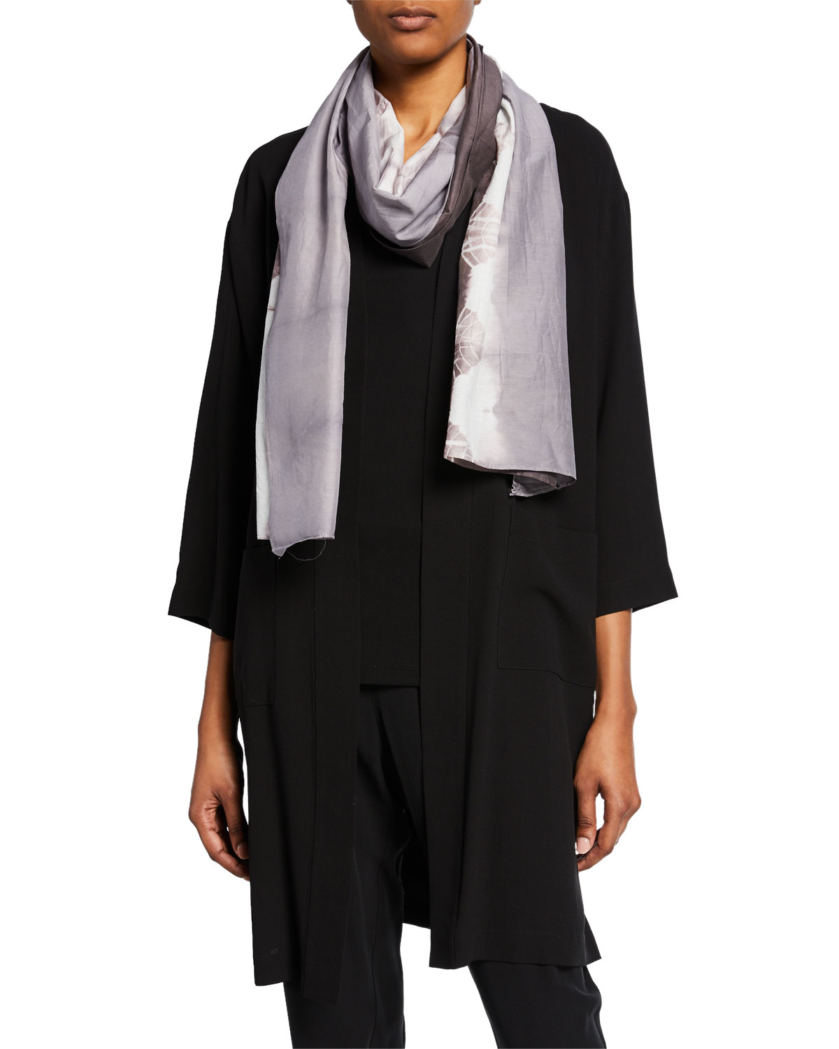 Eileen Fisher Accessories SHIBORI HORIZON SCARF