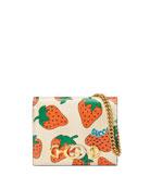Gucci Gucci Zumi Strawberry Card Case
