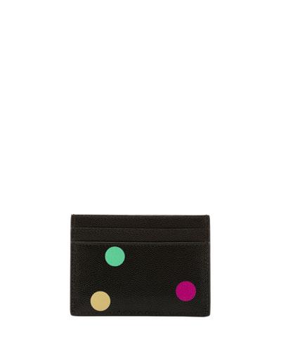 Polka-Dot Flat Card Case
