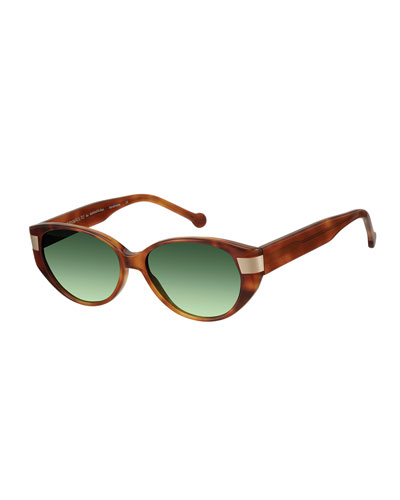 South Beach Gradient Cat-Eye Sunglasses, Honey