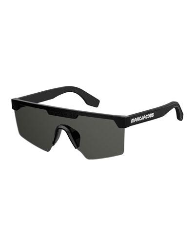 Semi-Rimless Shield Sunglasses