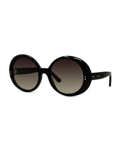 Round Gradient Chunky Sunglasses
