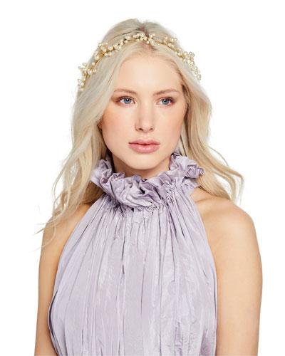 Primavera Swarovski Pearl Circlet Headband