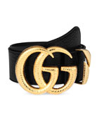Gucci Crocodile Belt w/ Double G Buckle