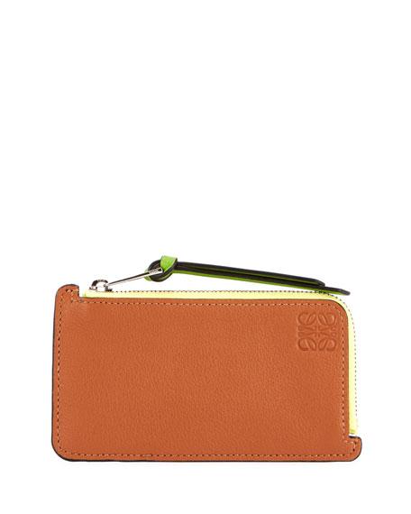 Loewe Colorblock Zip Card Case