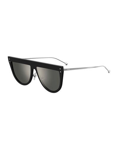 d468b11b41af Quick Look. Fendi · Flat-Top Mirrored Shield Sunglasses