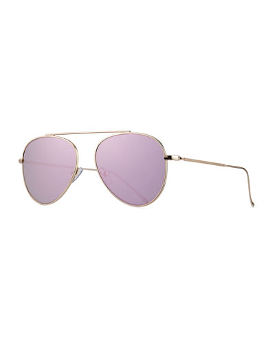 Dorchester Mirrored Aviator Sunglasses