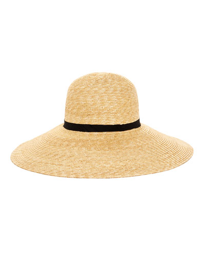 Alix Wide-Brim Straw Sun Hat