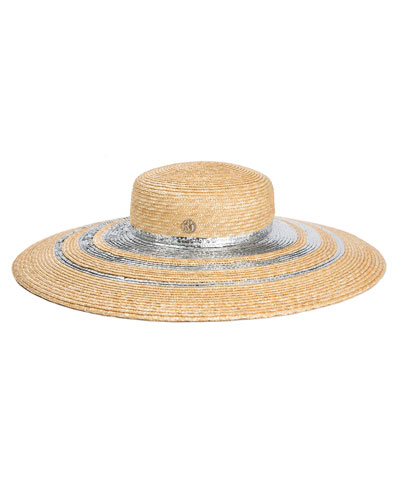 Bianca Metallic Trim Sun Hat
