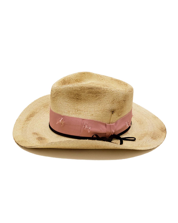 Nick Fouquet DISTRESSED STRAW COWBOY HAT