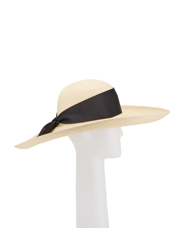 Sensi Studio Lady Ibiza Straw Hat w/ Bow Hat Band