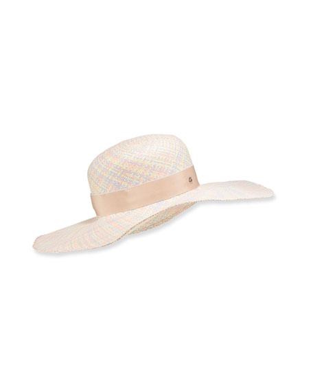 Jane Taylor Pastel Straw Floppy Hat