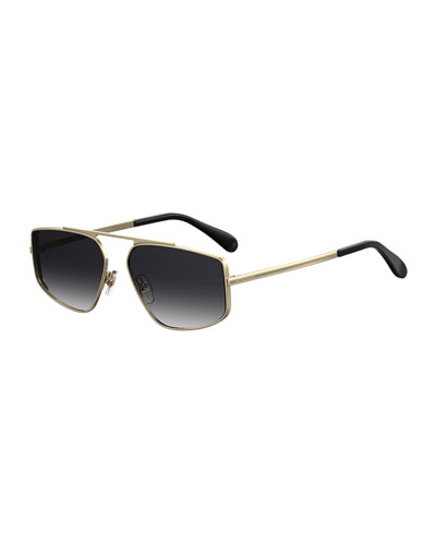 c39c54ee91 Quick Look. Givenchy · Rectangular Mirrored-Lens Metal Sunglasses