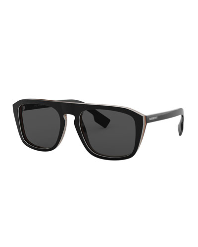 c681ee0f3cd Quick Look. Burberry · Icon Stripe Square Sunglasses