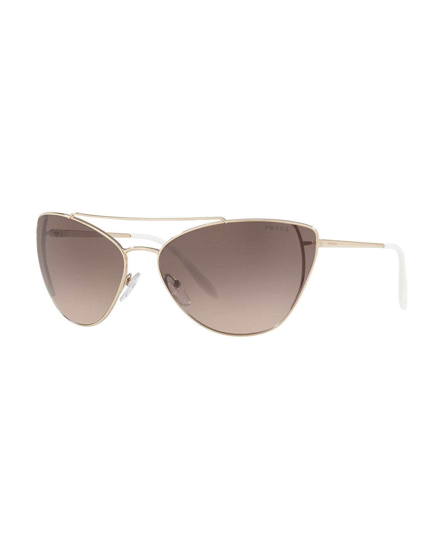 Prada Sunglasses METAL CAT-EYE SUNGLASSES