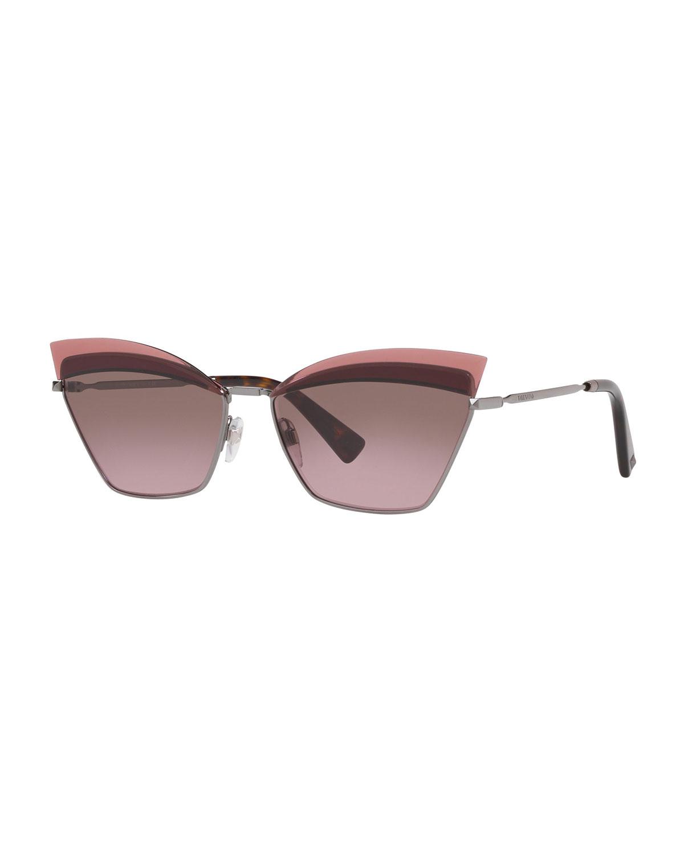 Valentino Sunglasses CAT-EYE METAL SUNGLASSES