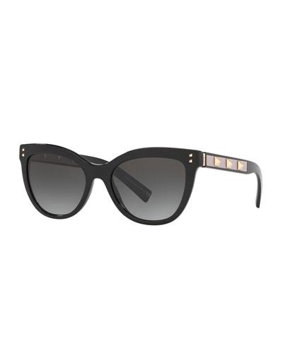 Rockstud Acetate Cat-Eye Sunglasses