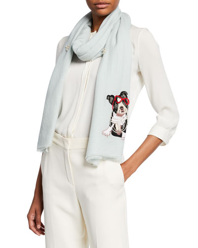 Embellished French Bulldog Scarf