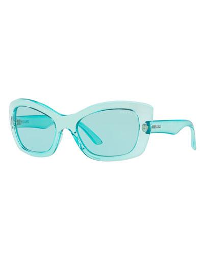 758076ae52d Quick Look. Prada · Transparent Cat-Eye Sunglasses