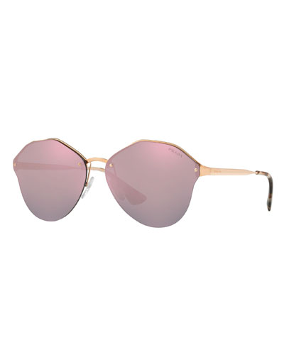 bac6d92811cf3 Quick Look. Prada · Rimless Square Mirrored Sunglasses