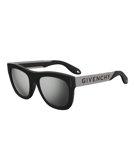 Givenchy Square Rubber Logo Sunglasses