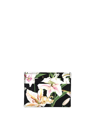 Lilium Printed Card Case