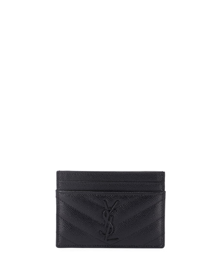Saint Laurent Monogramme Quilted Card Case
