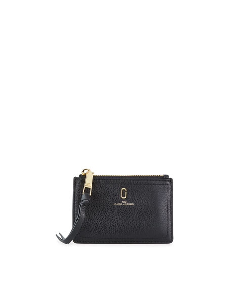 The Marc Jacobs Leather Logo Zip Wallet