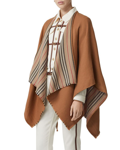 Heritage Striped Solid Cape