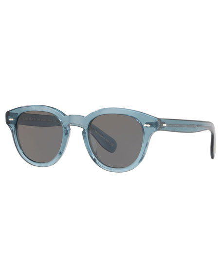 Oliver Peoples Cary Grant Oval Acetate Sunglasses