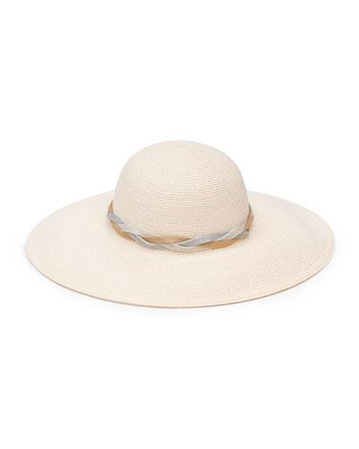 Honey Woven Sun Hat w/ Braided Band