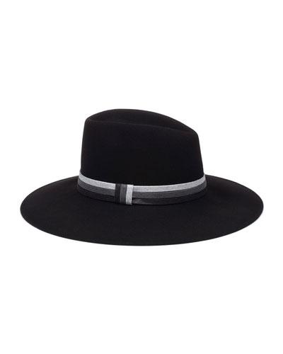 Harlowe Wool Panama Hat w/ Colorblock Band