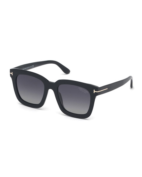 TOM FORD Square Polarized Acetate Sunglasses