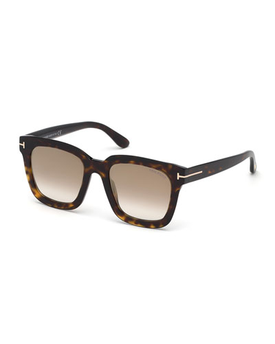 Sari Acetate Square Mirrored Sunglasses