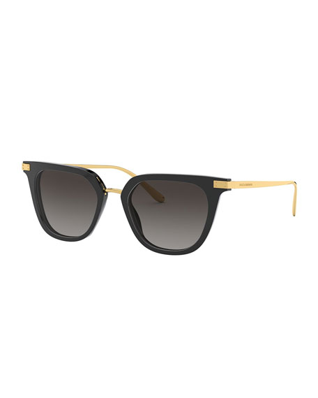 Dolce & Gabbana Metal & Acetate Rectangle Sunglasses