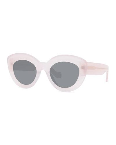 Chunky Acetate Cat-Eye Sunglasses