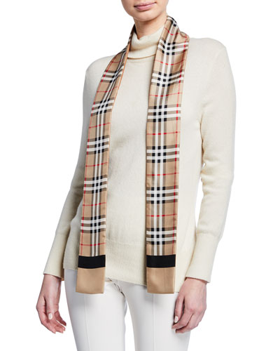 c6a80f1801550 Quick Look. Burberry · Vintage Check Skinny Silk Scarf