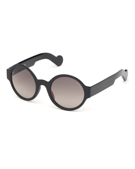Moncler Round Acetate Sunglasses