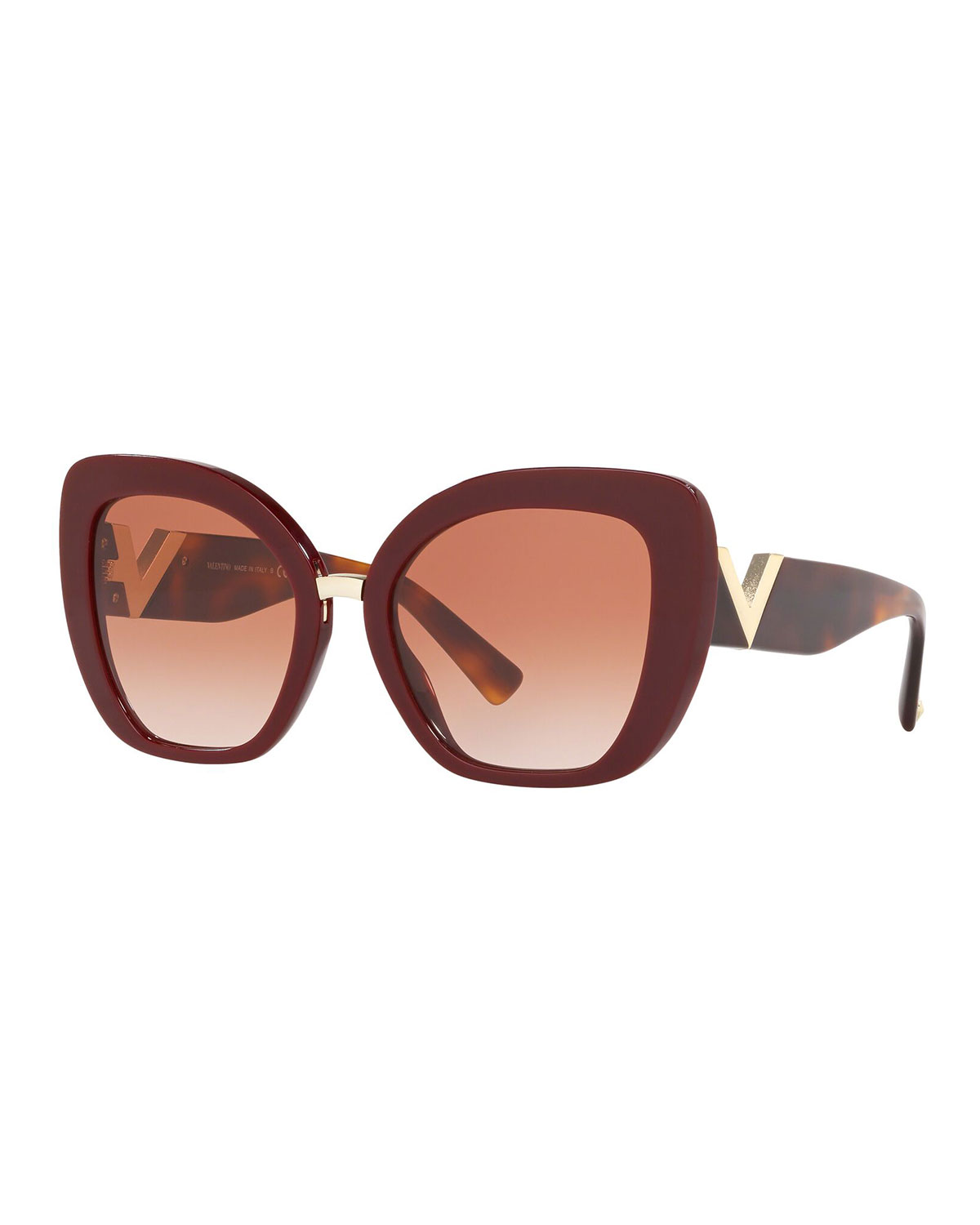 Valentino Sunglasses V-TEMPLE ACETATE BUTTERFLY SUNGLASSES