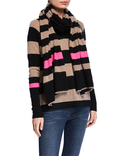 Hype Multi Stripe Cashmere Scarf