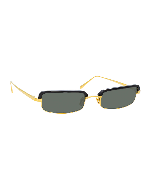 Linda Farrow Sunglasses SLIM RECTANGULAR SUNGLASSES