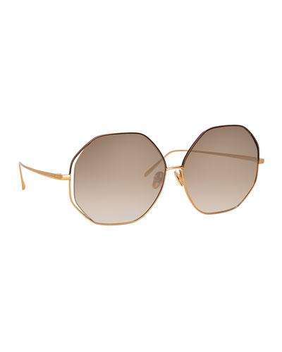 Octagonal Titanium Sunglasses